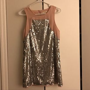 Dorothy Pink and Silver Sequin Mini Dress